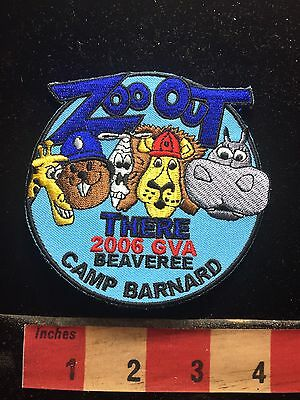 ZOO OUT CAMP BARNARD Hippo Giraffe Lion Beaver Canada Patch Emblem 75X1