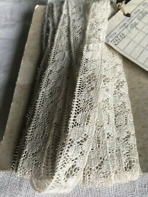 Vintage Lace, Off White Cotton Trim Needlepoint Lace Vintage Wedding Dolls / 5m