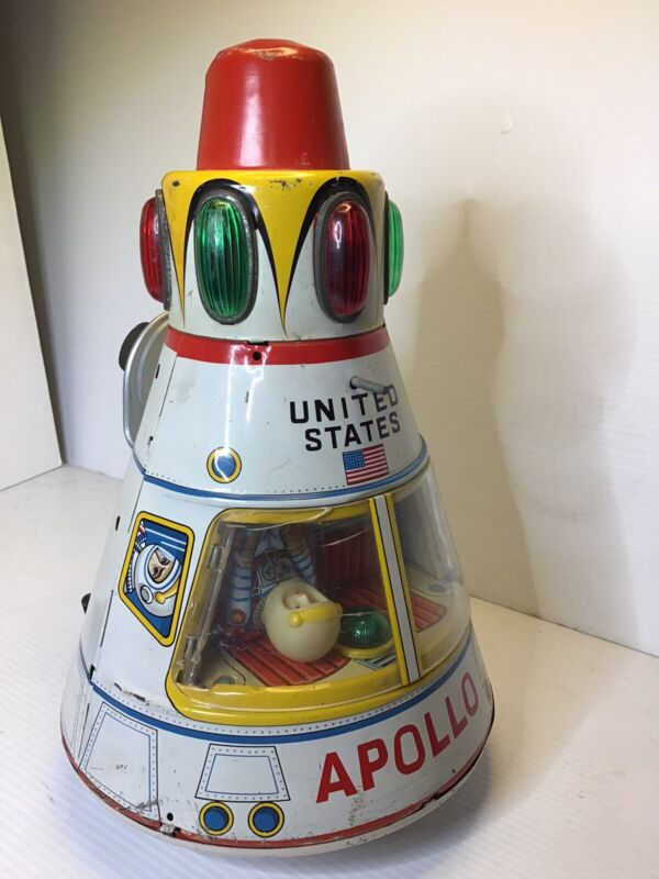 🔥Vintage Modern Toys Apollo Tin Litho Battery Operated Toy Works Space Japan