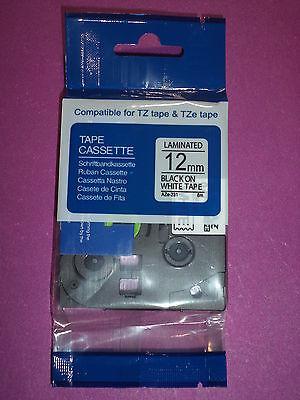 Compatible Tze-231 12mm 12 Label-tape Black Print 26.2 Ft Pt-580 Brother