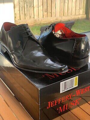 Jeffery West Muse Black Lace Shoes (Size 10)