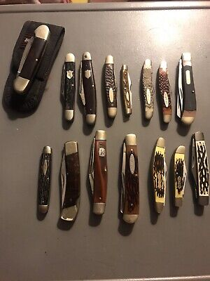 VTG Pocket Knives Lot of 15, Kabar, Winchester, Schrade, Old Cutlery, Primble!