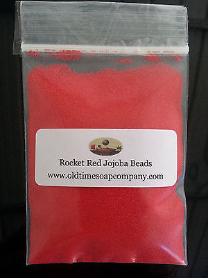 Jojoba Spheres Beads 1 oz Rocket Red Soaps Scrubs Gels