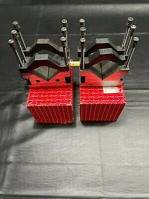 Starrett 2 Pieces Of 578 Large Capacity V-block Wclamp. Used Great Shape