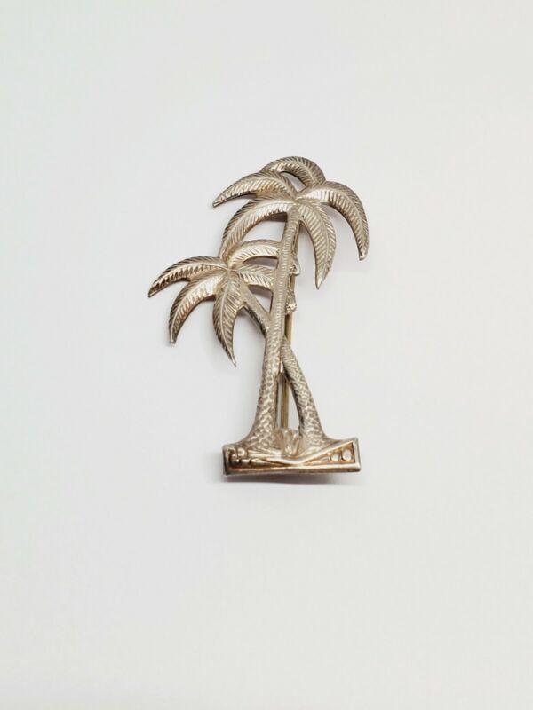 Vintage Sterling Silver Palm Tree Pin Brooch (4)