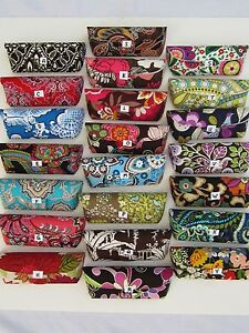 Vera-Bradley-Womens-Hard-Eyeglass-Cases-Snap-Closure-22-00-value-NEW