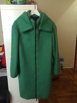 JO NO FUI coat Green Emerald size 42 Us 4 zip, pockets, High Collar Black friday