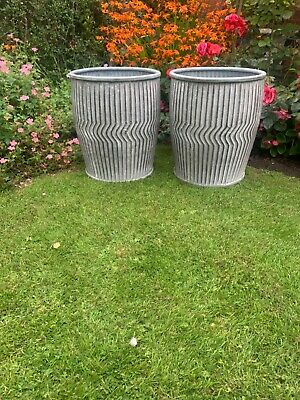In stock new  Matching Pair Of Galvanised dolly tub  English designed