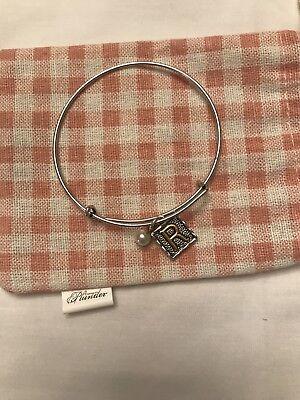 Plunder Design Bangle Bracelet Initial R