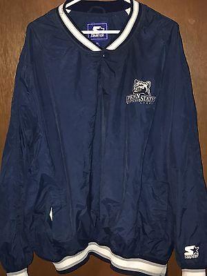 Penn State University Starter Pullover Half-zip Jacket Size XL Extra Large 90's