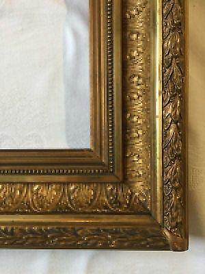 Bilderrahmen Prunkrahmen vergoldet Holz Stuck Frankreich um 1880 Falz 52,6x41,7