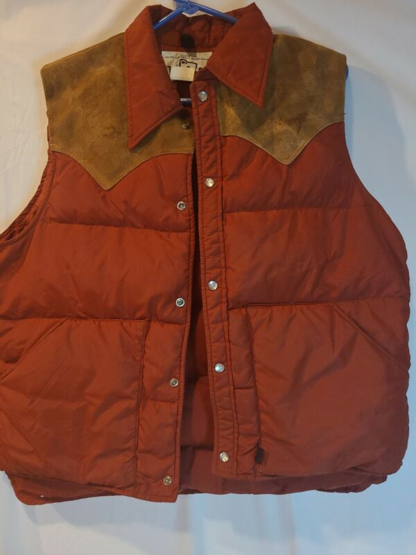 VINTAGE Woolrich Prime Northern Goosedown Thick Puffy Vest Large L