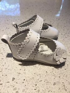 White Baby Shoes Size 1