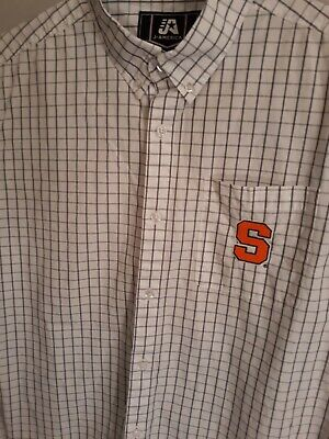 Ncaa Button Down Shirt - J. AMERICA SU Syracuse orangemen long sleeve shirt dress NCAA button down