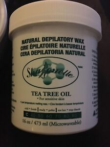 Brand new microwaveable depilatory hair removal wax tea tree oil