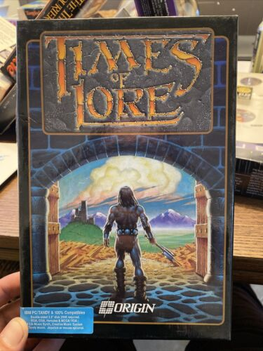 Computer Games - Times Of Lore Pc Ibm Tandy Origin Games Computer 3.5 Disk 1989