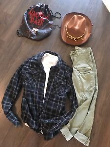 GIRLS TEEN OR SMALL LADY CARL GRIMES COSTUME THE WALKING DEAD
