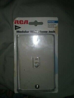 RCA TP253 Modular Dual Phone Jack Wall Mount (Ivory) Modular Dual Jack Wall Mount
