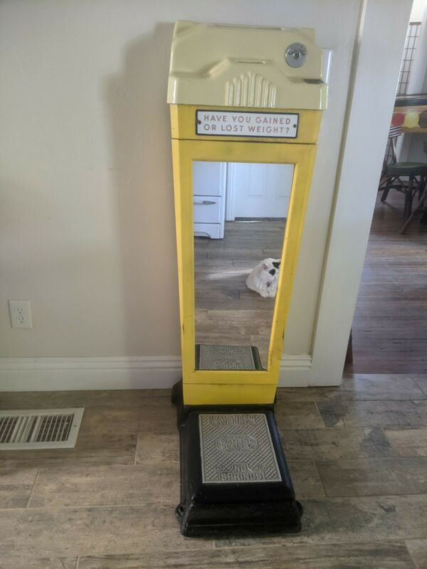 Vintage Waitling Coin Operated Floor Scale early 1900s