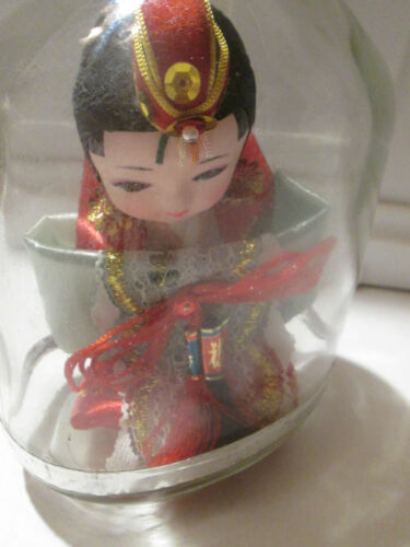Korean Doll Woman Traditional Outfit Sealed in Bottle Circa 1990