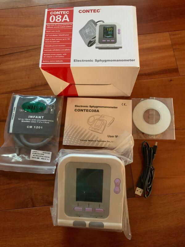 CONTEC 08A digital Electronic color LCD Blood pressure monitor NIB Infant cuff