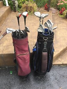 Two sets golf clubs