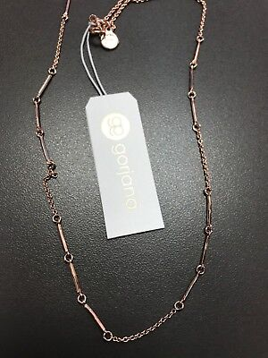 GORJANA 14K Rose Gold Plated Design It Yourself Bar Chain Necklace or Body NEW