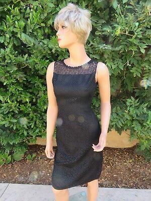 Metal Lace Dress - Vintage HANDMADE Beauty ~ Fine Lace Dress Lined Size 6 Metal Zipper
