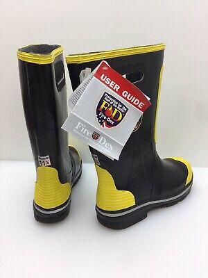 Fire-dex Fdxr100-11.5 Shoe-fit Fire Boots Mens 11.5 11 12 Pair Steel Toe