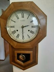 Le Gant Oak Wall Clock Westminster Chimes GORGEOUS & WORKING!