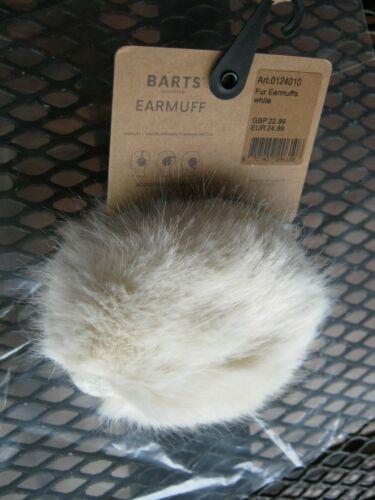 New BARTS Amtersdam Fur Earmuffs White