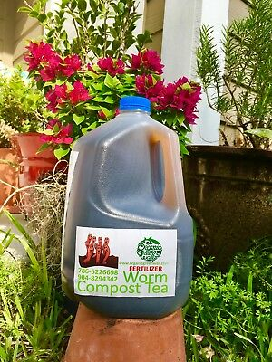 Organic Worm Compost Tea 1 Gal is a strong liquid fertilizer from worm castings Worm Compost Tea