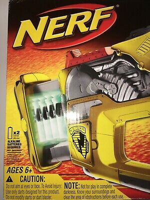 Nerf N-Strike Firefly Rev-8 Glow In the Dark Dart Gun NIB