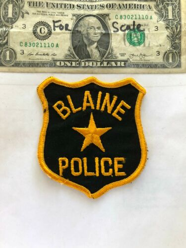 Very Rare Blaine Idaho Police Patch Un-sewn in great shape