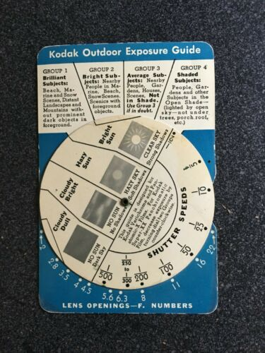 Vintage KODAK OUTDOOR EXPOSURE GUIDE