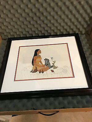 "Disney Sericel Pocahontas ""Woodland Friends"" Cel Framed Walt Disney Made in USA"