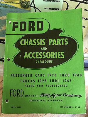 1950 Ford Chassis Parts and Accessories Catalogue Cars 1928-48 Trucks 1928-47