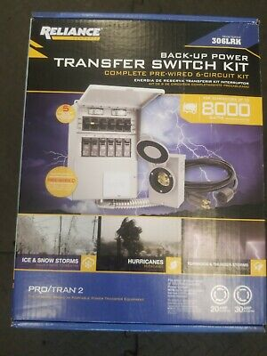 Reliance Back-up Power 6-circuit Complete Transfer Switch Kit Model 306lrk - New