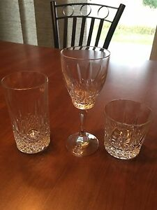 6 Of Each Style 24% Lead Crystal Glasses (18 Total)