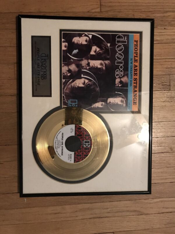 The Doors People Are Strange Gold 45 Record Framed