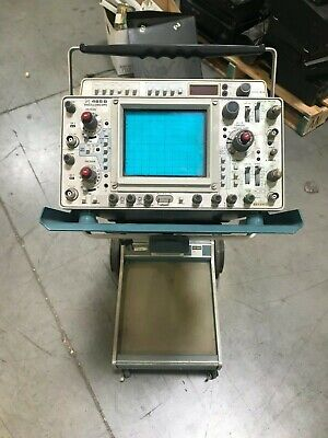 Tektronix 465b Dual Oscilloscope With Dm 44 Digital Multimeter Wstand