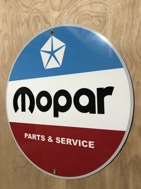 Mopar Chrysler Service Parts Garage Sign Reproduction