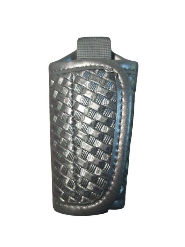 Tuff Leather Silent Key Holder - Basket Weave - Black