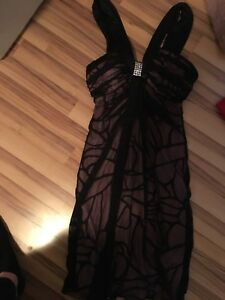Light pink and black dress - size small