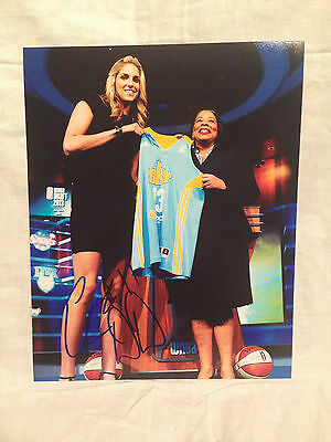 Elena Delle Donne Signed Autographed 8X10 Photo Basketball Chicago Sky Coa