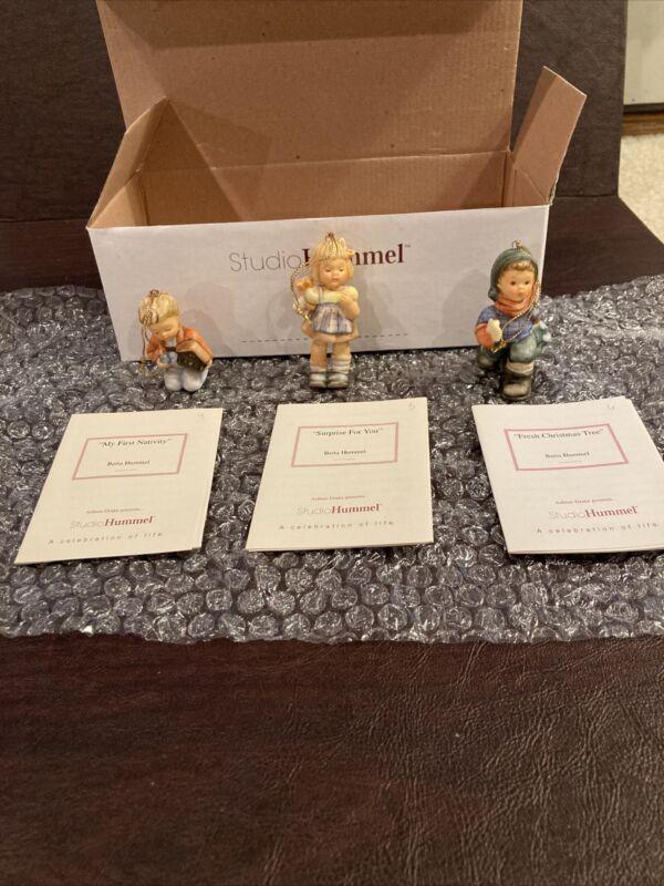Berta Hummel Studio Hummel Ornaments - Set #2 (94422) w/COAs!!