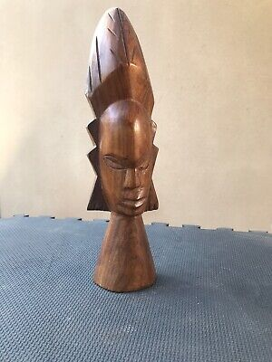 Old Papua New Guinea Pacific Islands Carved Wooden Figure Tiki bar Decor