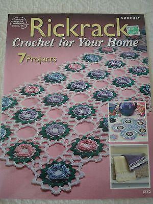 Rickrack Crochet for Your Home ~ Doilies Trims Edgings /& More crochet patterns