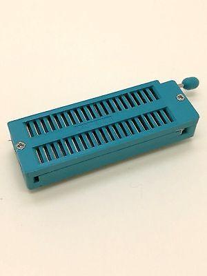 Us Stock 2x 40 Pin 2.54mm Zif Zip Ic Test Dip Board Socket Universal 3m 240-3345
