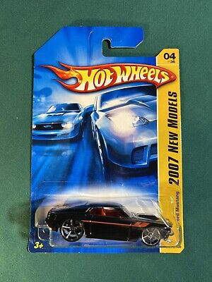 2007 HOT WHEELS New Models '69 Ford Mustang Col.# 004/180 Black 1969, 04/36